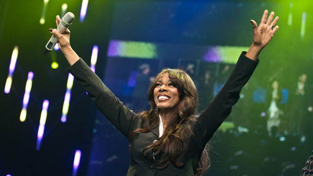 PHOTO: Singer Donna Summer onstage during the David Foster and Friends concert at the Mandalay Bay Events Center, October 1, 2011 in Las Vegas, Nevada.