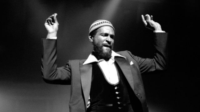 PHOTO: Marvin Gaye at Royal Albert Hall, London 1979.