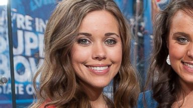 PHOTO: Jessa Duggar appears with her sisters in a television studio in Times Square on March 11, 2014 in New York.