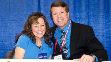 PHOTO: Michelle Duggar and Jim Bob Duggar promote their book A Love That Multiplies during the Conservative Political Action Conference on Feb. 10, 2012 in Washington.