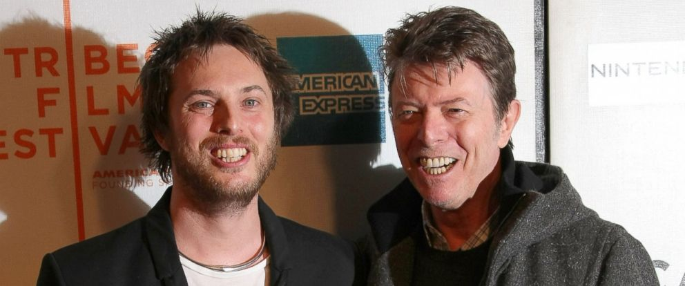 "PHOTO: Duncan Jones and his father David Bowie attend the premiere of ""Moon"" during the 2009 Tribeca Film Festival, April 30, 2009 in New York City."