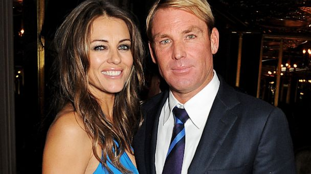 gty elizabeth hurley shane warne thg 130918 16x9 608 Liz Hurley, Fiance Shane Warne Not Throwing the Towel in Yet