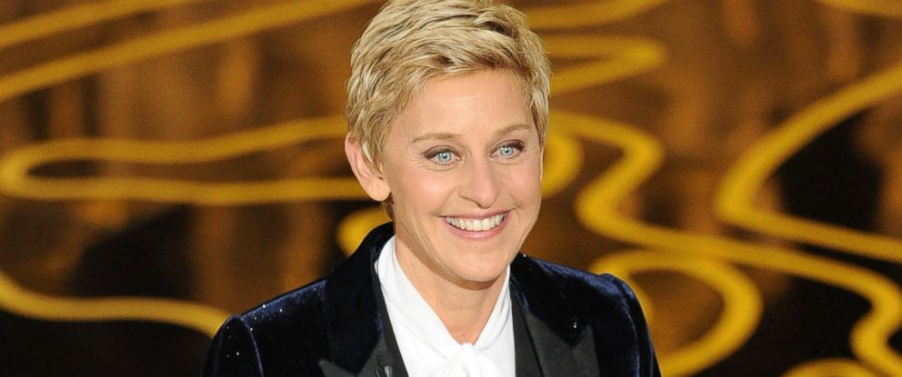 PHOTO: Ellen DeGeneres speaks onstage during the Oscars at the Dolby Theatre on March 2, 2014 in Hollywood, California.