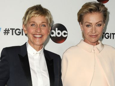 PHOTO:Ellen DeGeneres and Portia de Rossi attend the #TGIT premiere event hosted by Twitter at Palihouse Holloway Sept. 20, 2014, in West Hollywood.