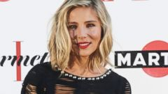 Elsa Pataky Shows Off Her Figure in a Frayed LBD