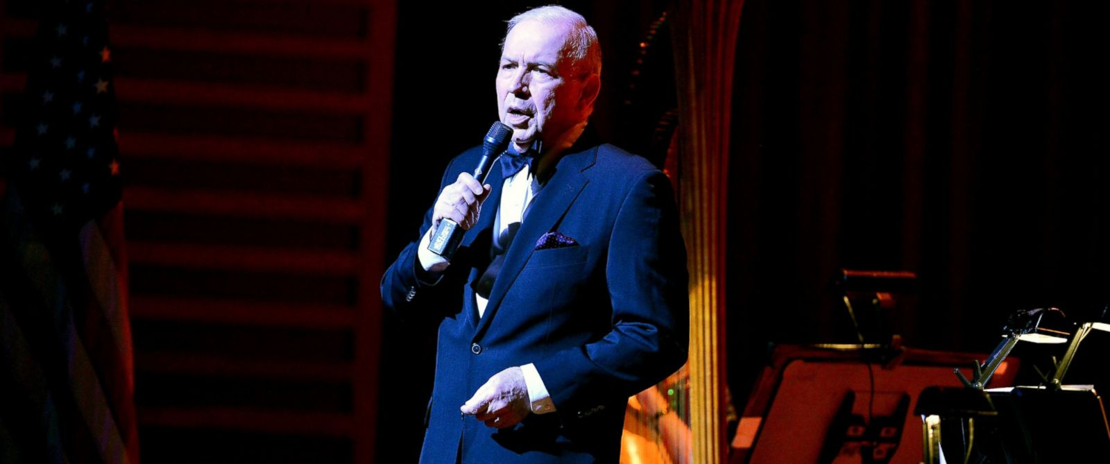 PHOTO:Frank Sinatra Jr. performs during the Jazz Roots: Frank Sinatra Jr. Sings Sinatra, a Multimedia Centennial Celebration at the Knight Concert Hall, March 11, 2016 in Miami.