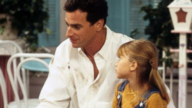 "PHOTO: Bob Saget and Mary Kate Olsen appear on the Oct. 18, 1994 episode of ""Full House""."