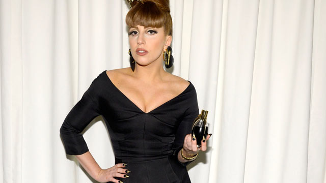 "PHOTO: Lady Gaga attends the Lady Gaga ""Fame"" eau de parfum launch at Macy's Herald Square on September 14, 2012 in New York City."
