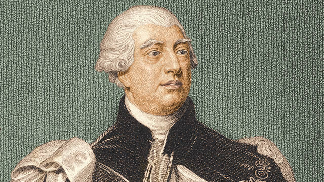 PHOTO: King George III, King of Great Britain and Ireland is shown in this portrait.