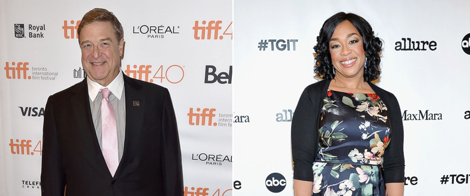 PHOTO: John Goodman attends the Trumbo premiere during the 2015 Toronto International Film Festival on Sept. 12, 2015 in Toronto. Shonda Rhimes attends MaxMara & Allure Celebrate ABCs #TGIT on Nov. 14, 2015 in Beverly Hills, Calif.