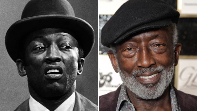 PHOTO: Garrett Morris as passerby during Weekend Update on Saturday Night Live, January 24, 1976. | Morris attends an Oscars 2012 event at the W, February 25, 2012 in Hollywood, Calif.