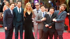 PHOTO: From left, Ed Helms, Bradley Cooper, Heather Graham, Todd Phillips, Justin Bartha, Ken Jeong and Zach Galifianakis attend