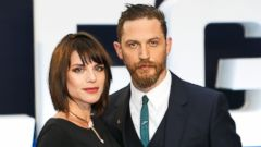 Tom Hardy and His Wife Charlotte Riley Debut Her Baby Bump on the Red Carpet