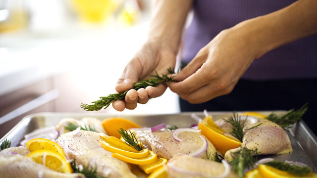 PHOTO: Adding herbs and spices to a dish adds flavor without sacrificing fat.