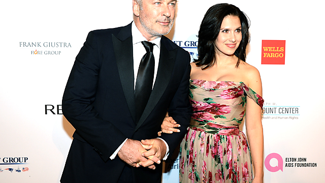 PHOTO: Alec Baldwin and Hilaria Baldwin attends the Elton John AIDS Foundation's 12th Annual An Enduring Vision Benefit Oct. 15, 2013 in New York.
