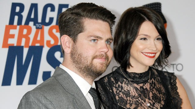 PHOTO: Jack Osbourne and Lisa Stelly arrive at the 19th Annual Race To Erase MS Event at the Hyatt Regency Century Plaza, May 18, 2012 in Century City, Calif.