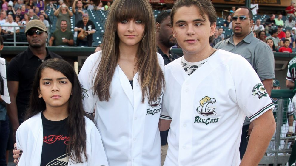 PHOTO: Prince Michael Jackson II, Paris Jackson and Prince Jackson attend the St. Paul Saints Vs. The Gary SouthShore RailCats baseball game at U.S. Steel Yard on August 30, 2012 in Gary, Indiana.