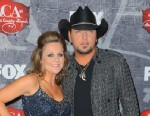 PHOTO: Recording artist Jason Aldean and his wife Jessica Aldean arrive at the 2012 American Country Awards at the Mandalay Bay Events Center on Dec. 10, 2012 in Las Vegas.