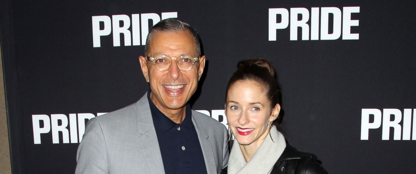 """PHOTO: Actor Jeff Goldblum and Emilie Livingston attend the Screening of CBS Films """"Pride"""" on Sept. 23, 2014 in Beverly Hills, California."""