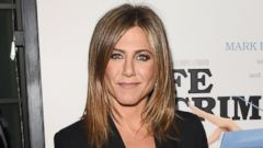 Jennifer Aniston Shines in a Sparkly Mini-Dress