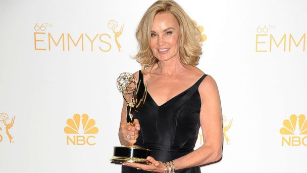 PHOTO: Actress Jessica Lange poses in the press room at the 66th annual Primetime Emmy Awards at Nokia Theatre L.A. Live on August 25, 2014 in Los Angeles, California.