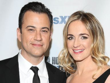 PHOTO: Jimmy Kimmel and Molly McNearney attend SiriusXMs Howard Stern Birthday Bash at Hammerstein Ballroom, Jan. 31, 2014 in New York City.