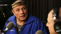 PHOTO: Jimmy Superfly Snuka visits The Opie & Anthony Show at SiriusXM studios on Jan. 9, 2013 in New York.