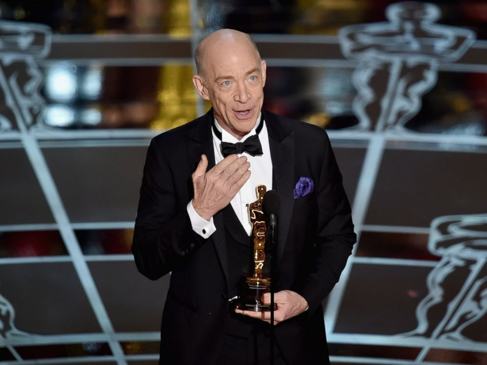 PHOTO: J.K. Simmons accepts the Actor in a Supporting Role Award for Whiplash onstage during the 87th Annual Academy Awards at Dolby Theatre on Feb. 22, 2015 in Hollywood, Calif.