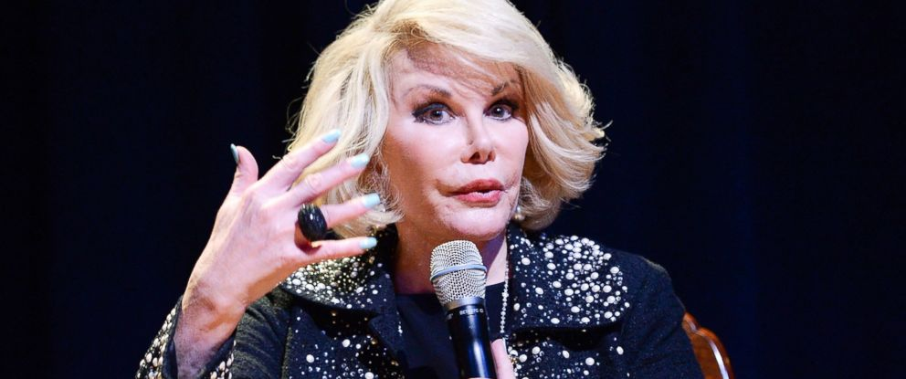 PHOTO: TV personality Joan Rivers performs onstage at An Evening With Joan Rivers at American Jewish University on June 20, 2013 in Los Angeles.