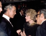 PHOTO: Tonight Show host Johnny Carson greets comedienne Joan Rivers and her Husband Edgar Rosenberg at the party after taping the 10th anniversary show, Sept. 30 1972 in Los Angeles, California.