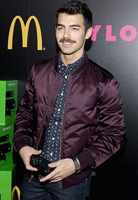 Joe Jonas Rocks a Mustache