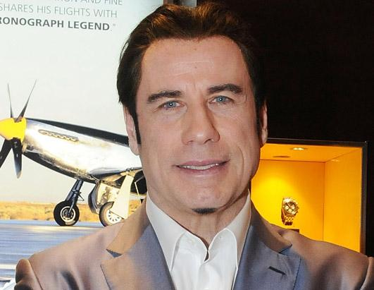Travolta's Strange Chin Hair