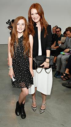 Julianna Moore Steps Out With Her Mini-Me