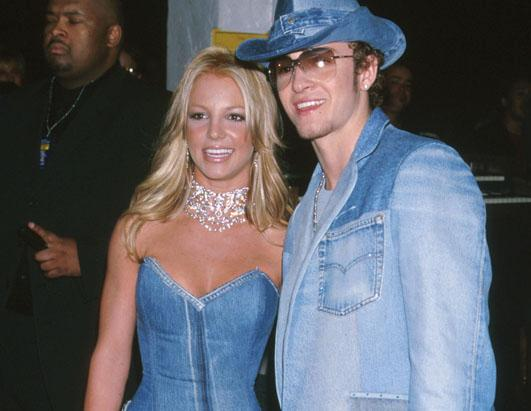 Britney Spears & Justin Timberlake of NSYNC at the Shrine Auditorium in Los Angeles, CA.