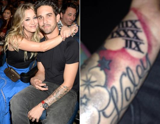Whoa! Kaley Cuoco's Husband Got a Giant Tattoo For Her!