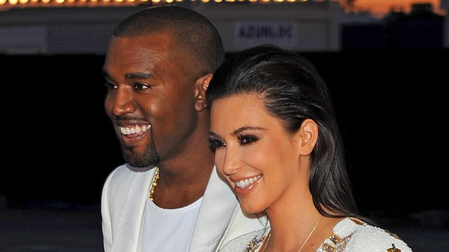 PHOTO: Kanye West and Kim Kardashian attend Kanye West hosts The