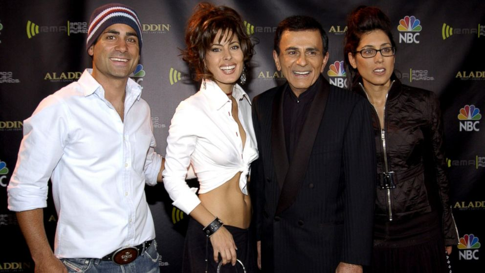 PHOTO: Kasey Casem poses for a photo with his son Mike, and his daughters Kerry and Julie at the Radio Music Awards on Oct. 27, 2003 in Las Vegas, Nevada.