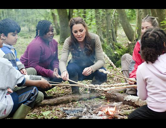 Kate Middleton Goes Camping