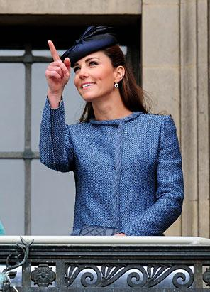 Kate Middleton Bold in Blue