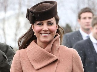 Photos: Kate Bundles Up for Day at the Races