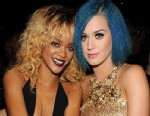 PHOTO: Rihanna and Katy Perry in the audience at the 54th Annual Grammy Awards, Feb. 12, 2012 in Los Angeles.