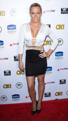 Kendra Wilkinson's Braless Cut-Out Dress