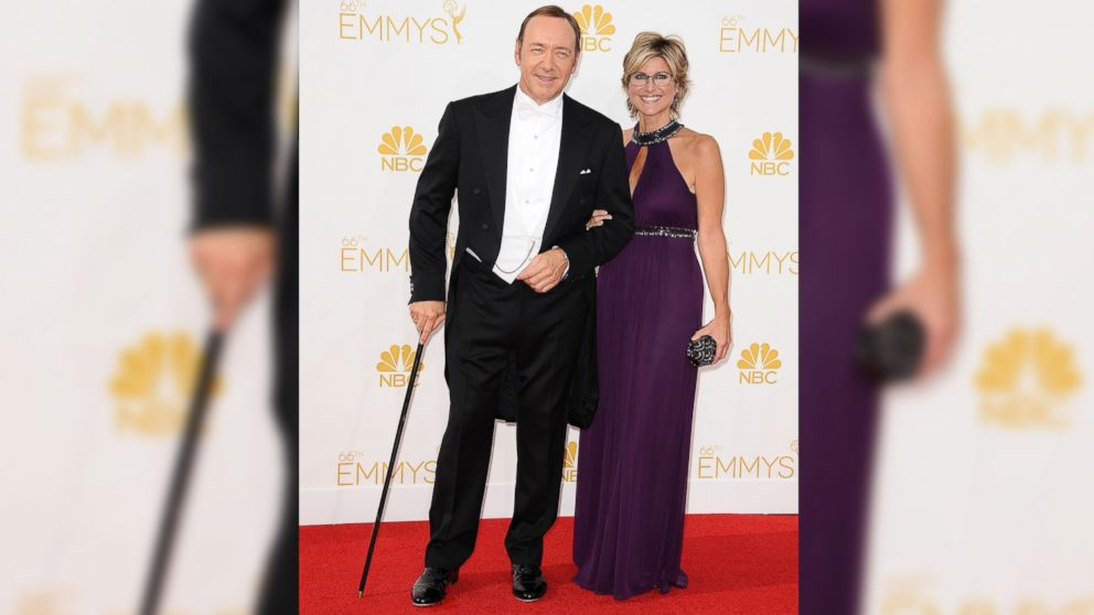 PHOTO: Actor Kevin Spacey and journalist Ashleigh Banfield attend the 66th annual Primetime Emmy Awards on August 25, 2014 in Los Angeles, Calif.