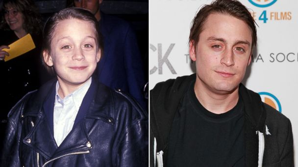 PHOTO: Actor Kieran Culkin is seen left in this 1991 file photo and right in this 2012 file photo.