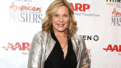 Kim Cattrall Shines on the Red Carpet