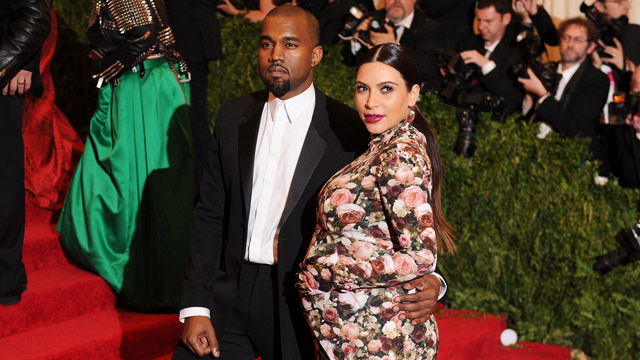 PHOTO: Kanye West and Kim Kardashian attend the Costume Institute Gala