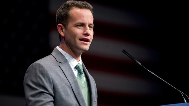 PHOTO: Actor Kirk Cameron speaks at the 2012 Conservative Political Action Conference in Washington, DC on Feb. 9, 2012.