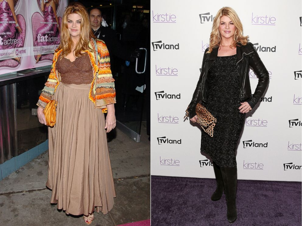 PHOTO: From left, Kirstie Alley in 2005 and 2013.