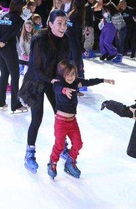 Kourtney Kardashian Takes Mason Ice-Skating