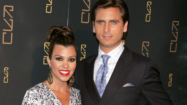 PHOTO: Kourtney Kardashian and Scott Disick attend the grand opening of RYU on April 23, 2012 in New York City.